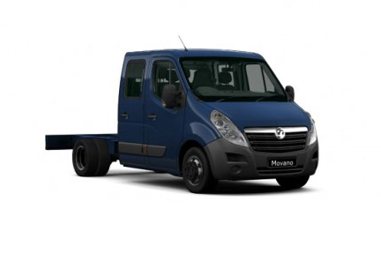 Vauxhall Movano R35DRW L3 2.3 CDTi BiTurbo DRW 130PS Edition Chassis Double Cab Manual front view