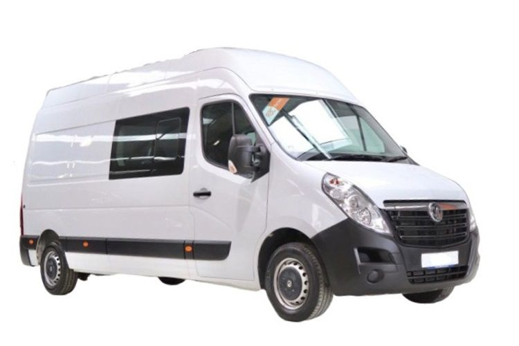 Vauxhall Movano R35 L3 2.3 CDTi BiTurbo RWD 130PS Edition Crew Van Medium Roof Manual front view