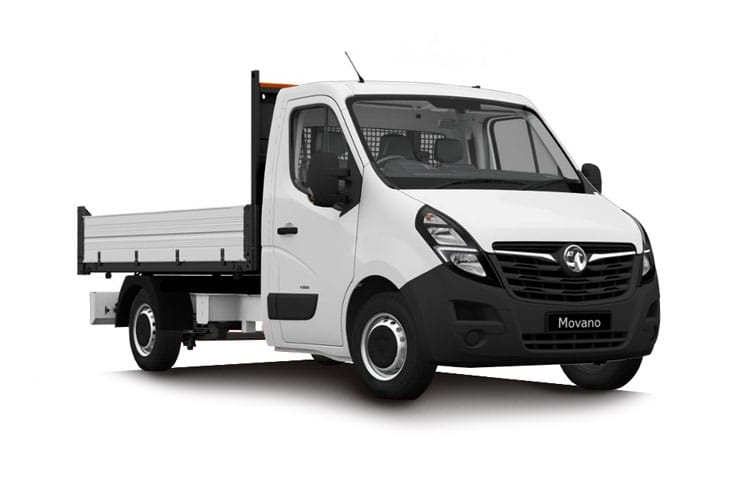 Vauxhall Movano R35DRW L3 2.3 CDTi BiTurbo DRW 145PS  Dropside Manual [Start Stop] front view